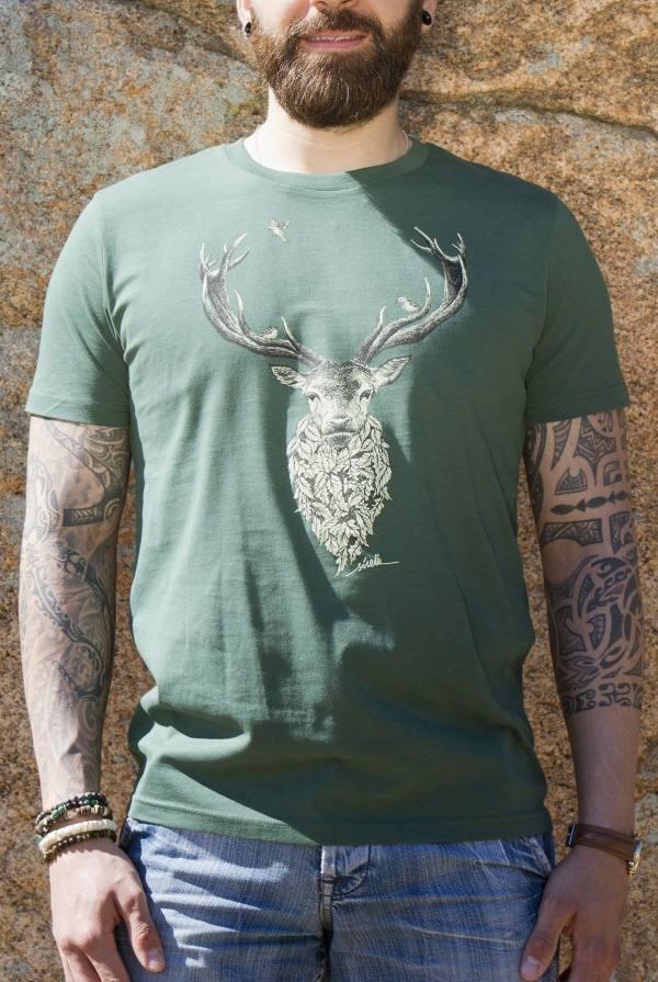 camiseta-ciervo-algodon-organico-sirem-wild-moda-sostenible