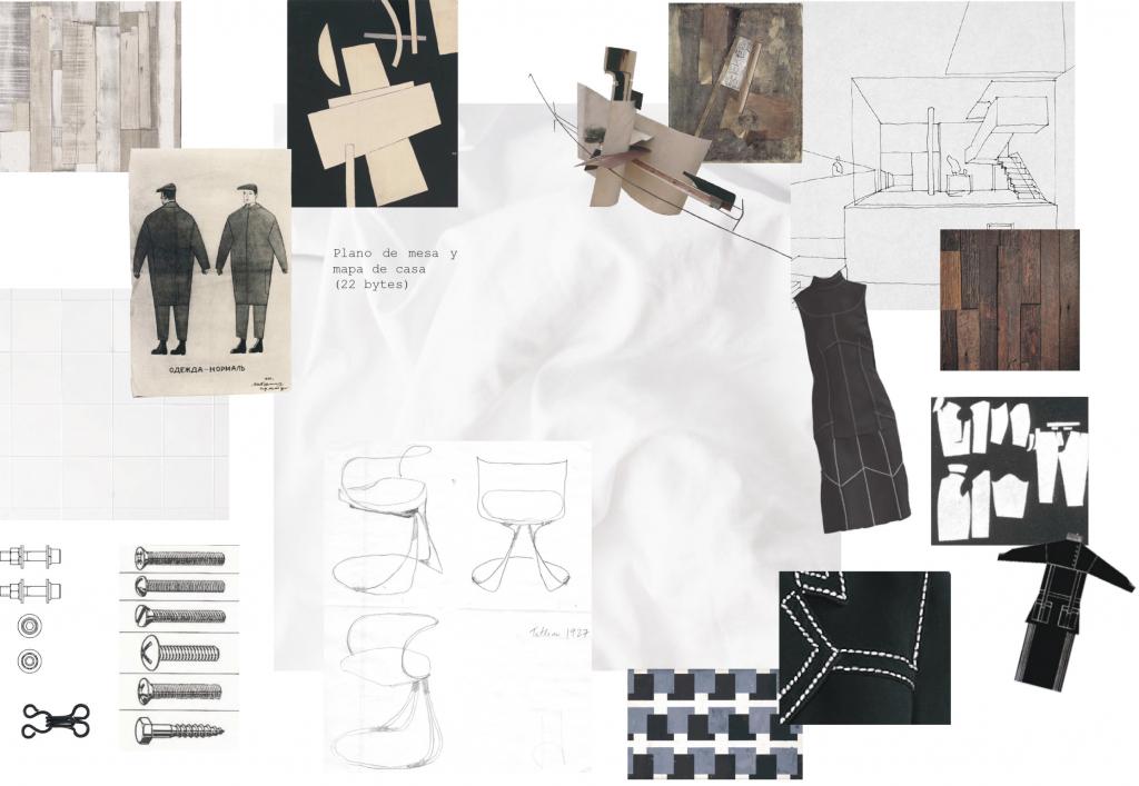 Moodboard concepto colección, Alicia Losada García y Marta Mateos Maza, 2019.